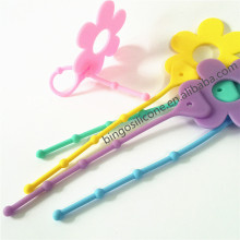 promotional & hot selling 3D flower shape cable tie recyching use cable tie