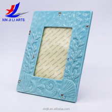 ocean style ceramic blue and white stoneware photo frame