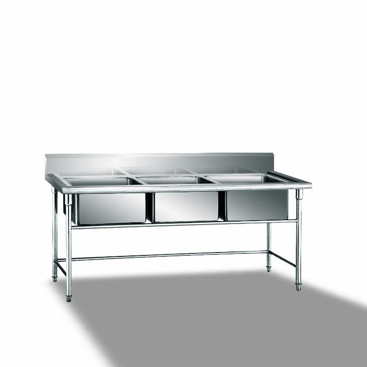 1.8 Meter Kitchen Stainless Steel Sink / Stainless Steel Work Table With Under Shelf / Stainless Steel Restaurant Working Tables