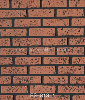 3.5mm Thickness Embossing Wood Brick Wall Panel In MDF