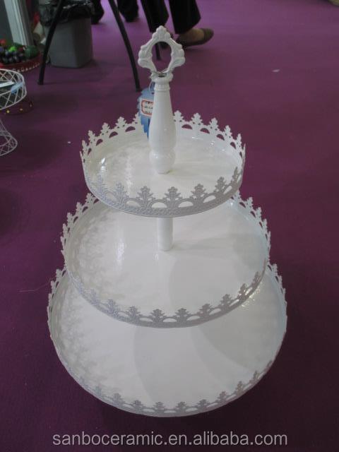 Cake Design Prato : Hochzeitstorte stand wei? antiken stil kuchenteller drei ...