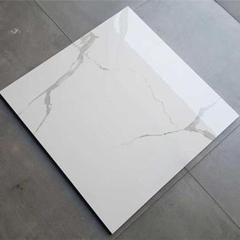 Nano Polished Carrara Super White Porcelain Ceramic Floor Tile