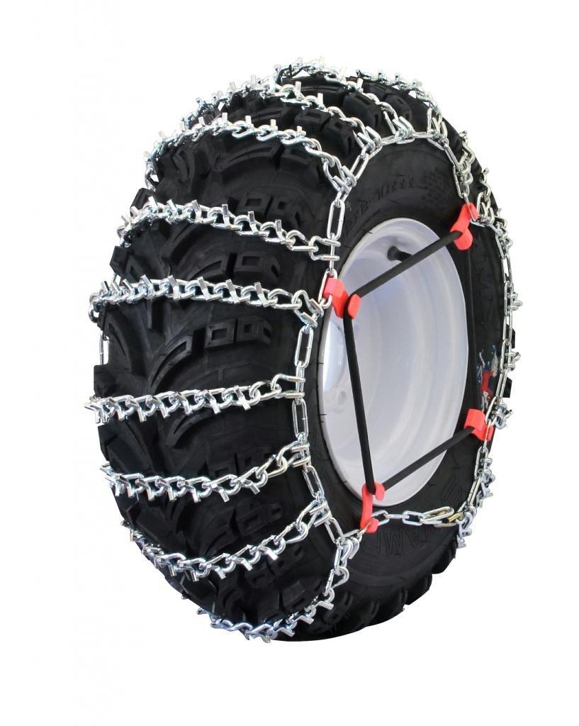 Grizzlar GTU-517 ATV 2 Link Ladder Alloy Tire Chains with Tensioners 24x13-9 25x10-10 25x10-12 25x11-10 25x10.5-15 25x12-9 25x12-10