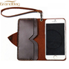 Fashion design wallet mobile phone bags for i7 and i7 plus genuine vintage leather wallet phone cover phone case