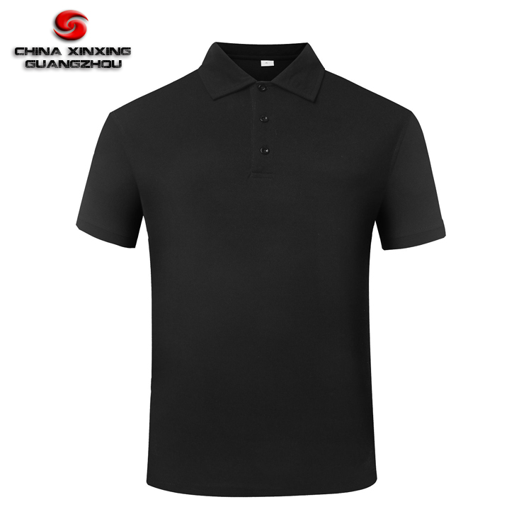 CVC Cotton 60% Polyester 40% Military Black Men Polo <strong>Shirt</strong>