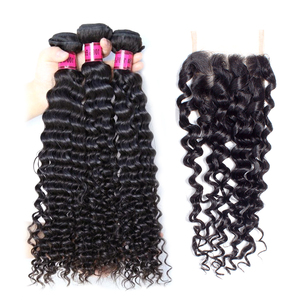 Remy Human Hair Mongolian deep wave, Wholesale deep wave unprocessed virgin human hair bundle