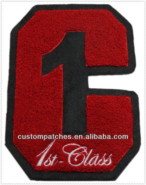 Iron on Chenille letter Patches