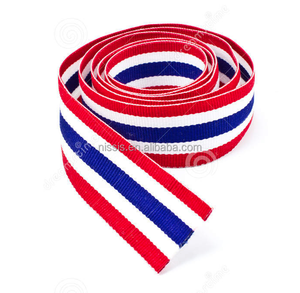 Single face custom polyester country flag ribbon