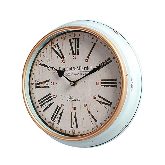 Creative Silent Antique Clock Living Room Restaurant Bedroom Wall Clock Decoration