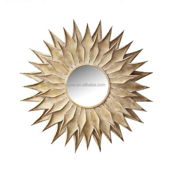 Emulational Sun Flower Shaped Decorative Wall Mirror