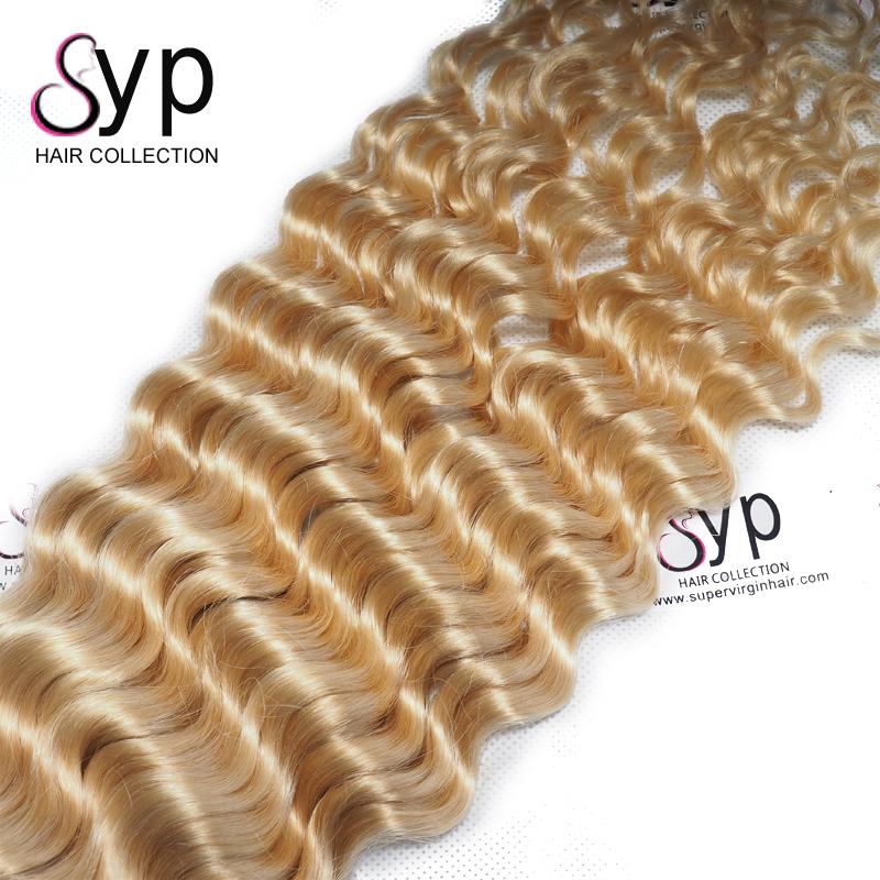 Unprocessed Russian Hair Deep Curly 613 Blonde Best Virgin Hair Extensions Vendors