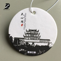 Customized Any Shape Design Promotional Paper Car Air Freshener