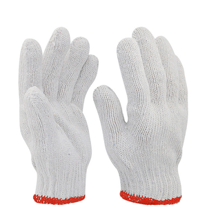 China Supplier Working Cotton Gloves Cheap Wholesale Protective White Hand Gloves