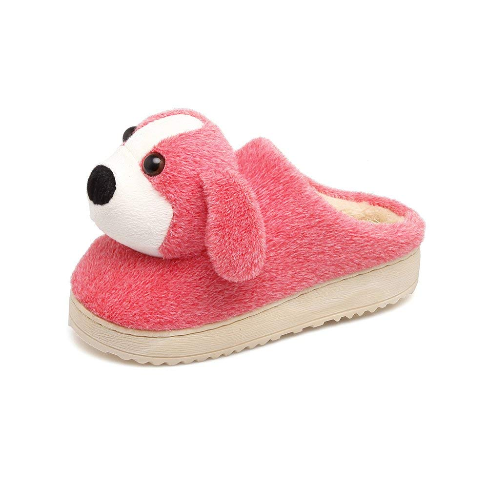 Aemember Winter Cotton Slippers, Female Animals, Semi Living Shoes, Indoor Bedroom Slippers, Warm Shoes,265 For Men (40, 41 Feet),Watermelon Red