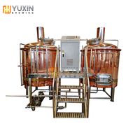100L 500L 1000L red copper beer brewing equipment for pub or bar