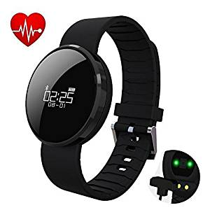 UWear UW1X Smart Watch Bracelet Fitness Activity Tracker Heart Rate and Blood Pressure Monitor Fitness Health Wristband,Bluetooth Pedometer with Sleep Monitor/Step Tracker/Calorie Counter