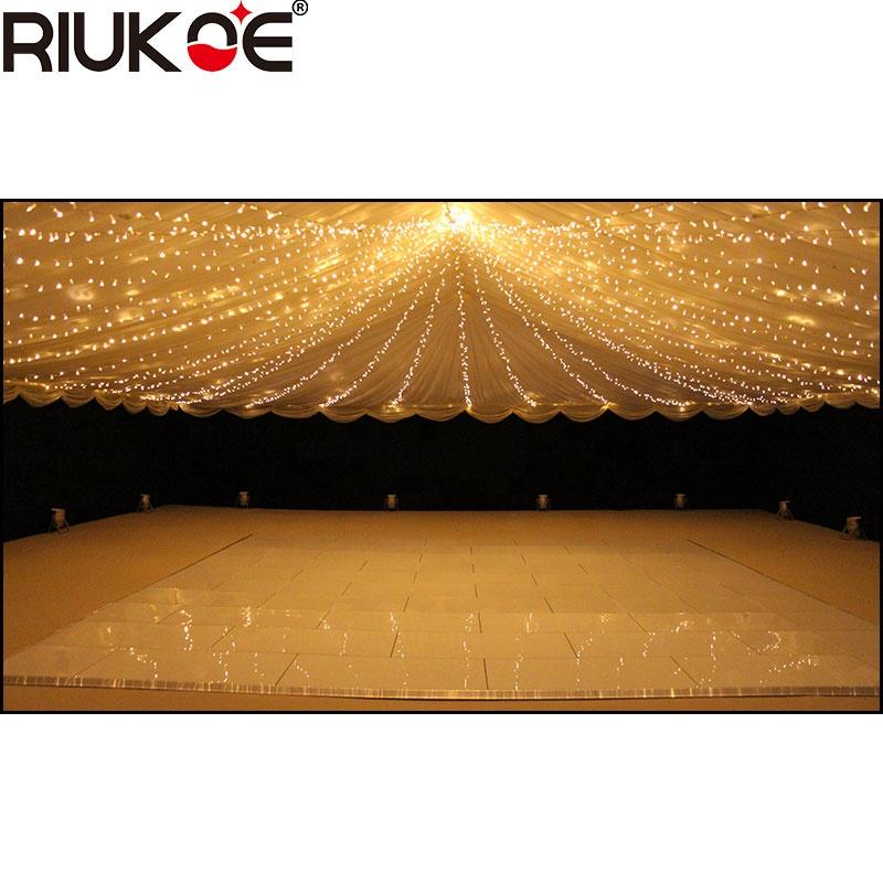 wedding party decoratinng light tempered glass rgb twinking led starlit dance floor
