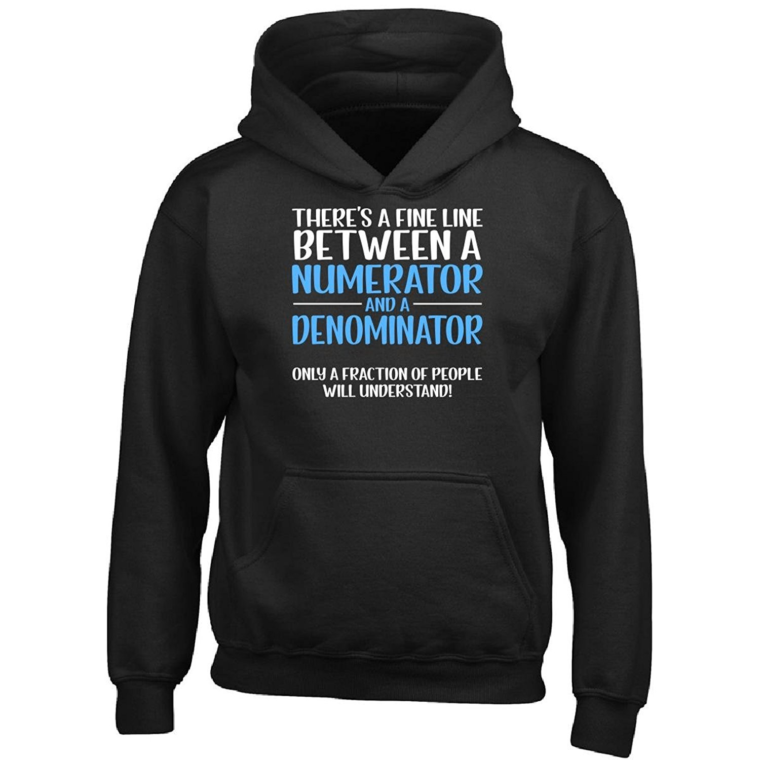 a1620514 Get Quotations · Eternally Gifted Numerator and Denominator Fraction Math  Pun - Math Joke - Boy Boys Hoodie