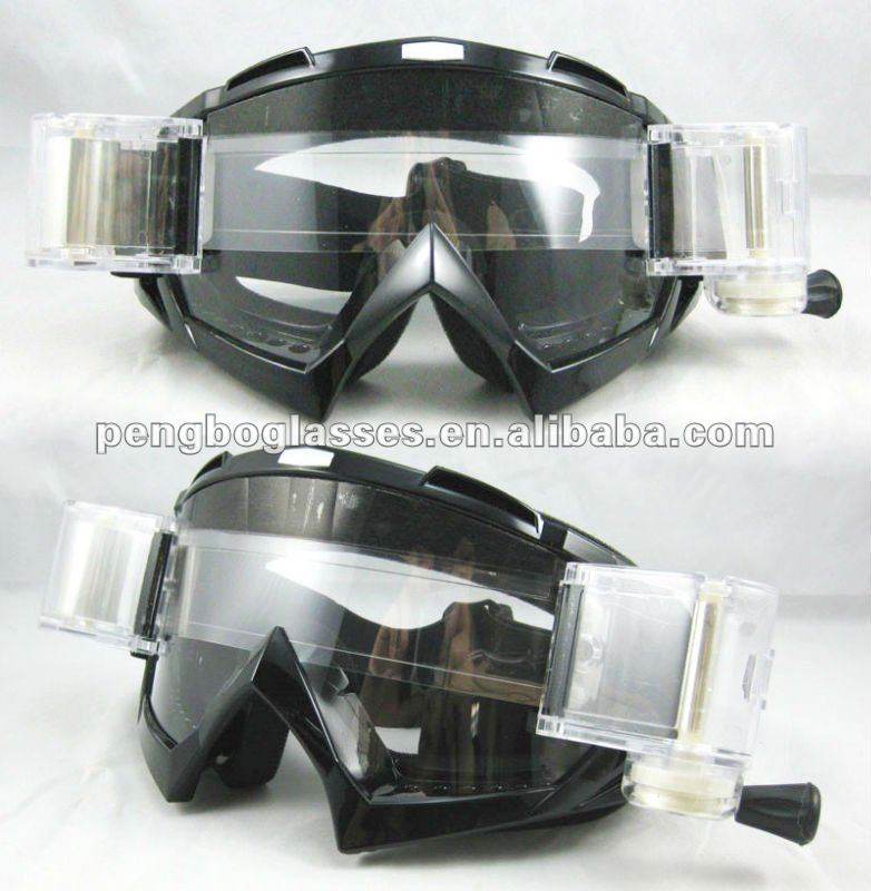 Tear off Motocross goggle with rolling system