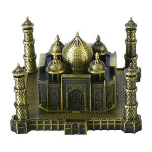 WR Art Crafts Novelty Thailand Souvenir Gifts Bronze Taj Mahal Building Models Home Office Ornament 13.5*11.5*7.5cm