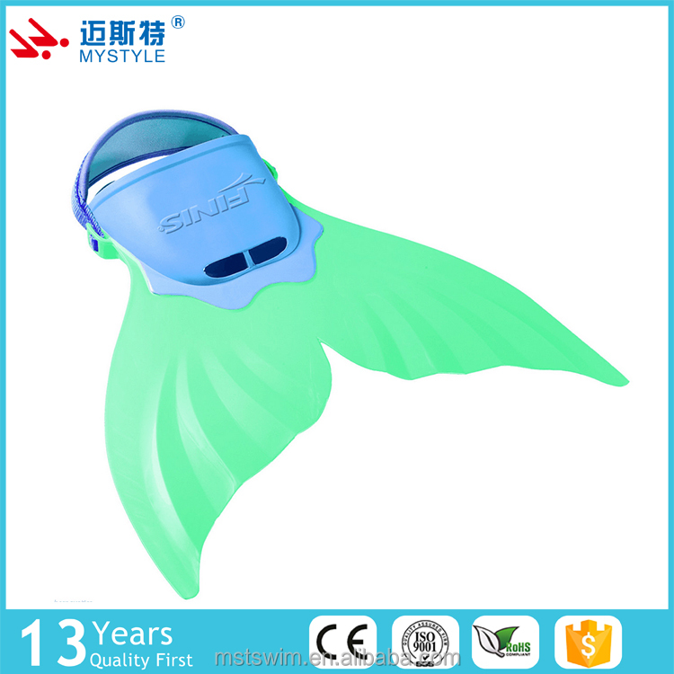 Low price first grade high quality mermaid fins swimming grins