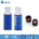 2ml sample chromatography vials ,Black Lined Phenolic Cap with nature PTFE/red rubber septa