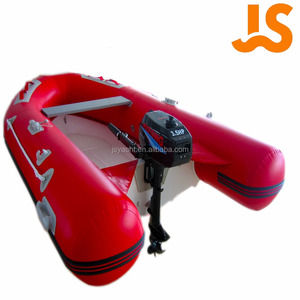 JS yacht CE 2.7m fiberglass floor inflatable fishing/race rowing boat kayak supplier from China Red JSRR270