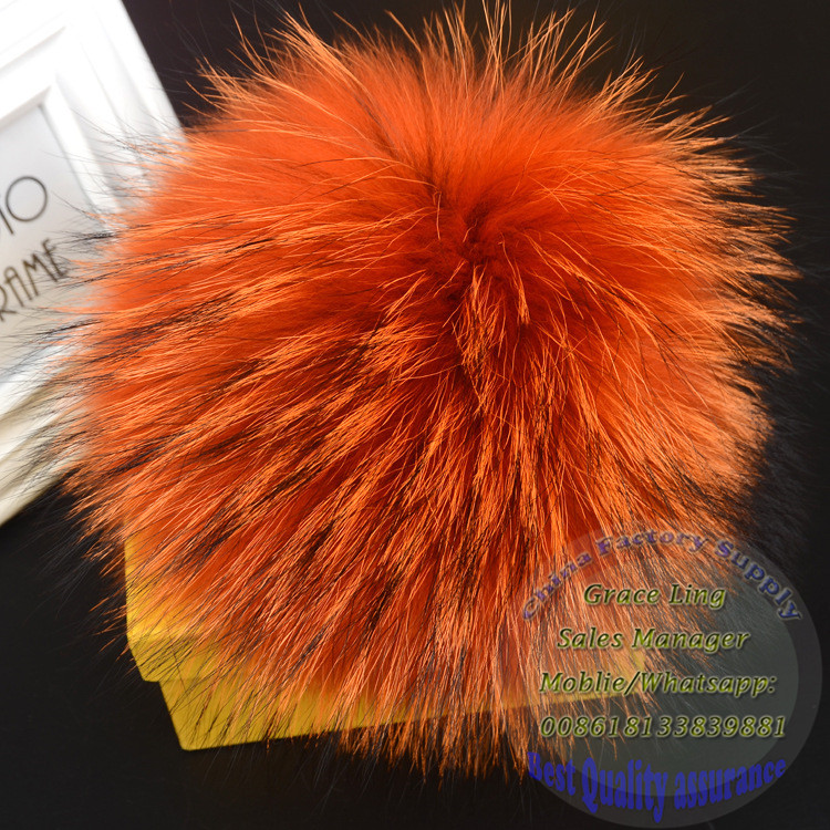 Luxury fox fur monster /fur monster keychain Real Fur Monster bag Bugs Pom Pom Ball Keychain