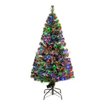 multi lights fibre optic christmas tree real feel christmas bristle tree