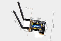 PC Antenna network adapter Atheros 5B222 Wireless Wifi WLAN Card with Bluetooth 4.0 lan card