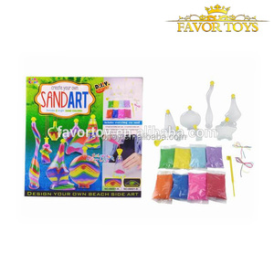 DIY colorful sand art luminous toy kids DIY toy night light toy