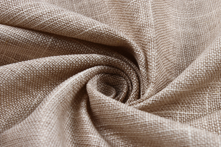 Khaki linen coating washable rayon slub Japanese washed linen fabric