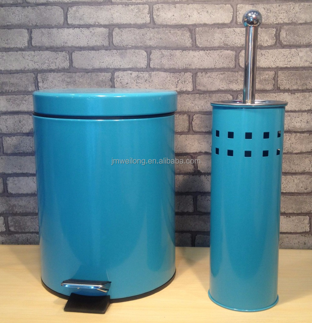 Salable Metal Pedal Bin and Toilet Brush Set, View Pedal Bin and ...