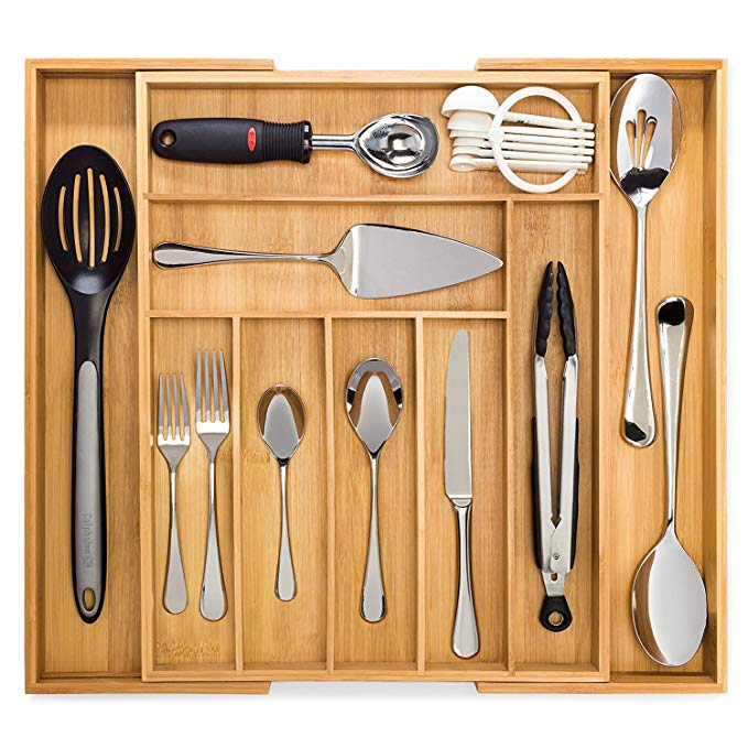 Expandable-Kitchen-Utensil-Bamboo-Cabinet-Drawer-Organizer