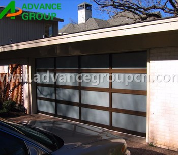 2017 aluminum sectional garage door glass garage door for Sectional glass garage door