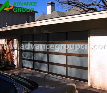 2017 aluminum sectional garage door glass garage door for Sectional glass garage door