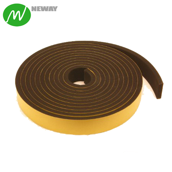 Rubber strip self adhesive backed 50 mm x 2.5mm x 300mm roll