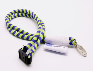 Colorful Metal Buckle Round Woven Lanyard