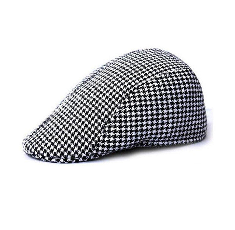 85c1ea5b Get Quotations · Tosangn Duckbill Driving Flat Ivy Beret Cap Peaked Sport  Hat Golf Cabbie Hat (Black)