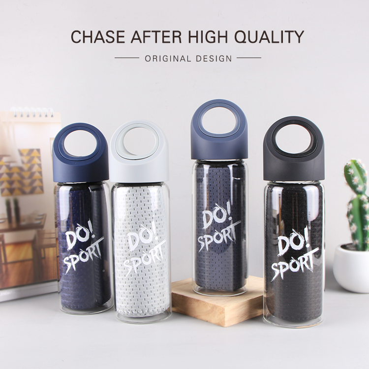 China Supplier Water Bottle Glass Drinking With Sleeve
