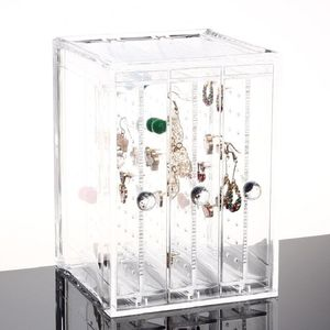 NEW! DELUXE EARRING ORGANIZER - ACRYLIC SLIDING DRAWER EARRING/JEWELRY DISPLAY