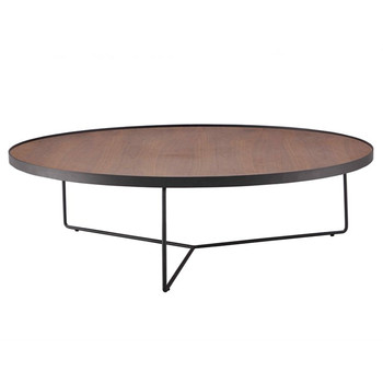 Nice New Design Wooden Round Tea Table Coffee Table Metal Legs For Living Room  Table