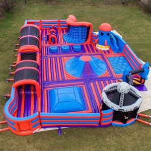 customized kids play outdoor inflatable bounce park, big indoor inflatable theme park for sale,indoor inflatable playground