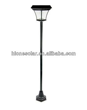 6 5 ft outdoor garden 4 leds solar lamp post light lawn street vintage style buy solar lamp. Black Bedroom Furniture Sets. Home Design Ideas