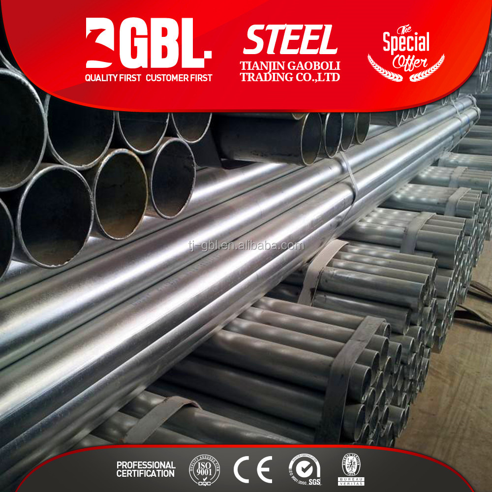 construction formwork galvanized steel pipe Price various material Q195-Q345