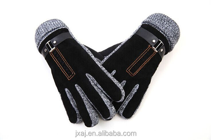 Warm and thick pigskin riding <strong>gloves</strong> for man