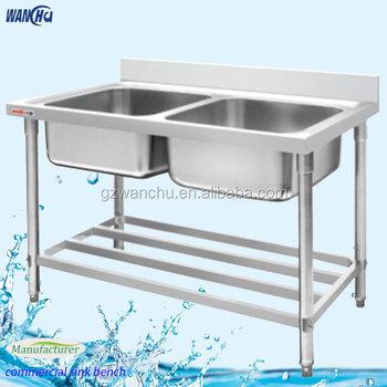 Restaurant Stainless Steel Malaysia Kitchen Sink Work Table Manufacturer