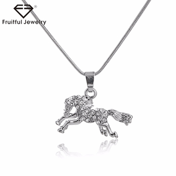 da15b3dae4f NKEL 2017 newest horse popular women's necklaces,cheap jewelry fashion  jewelry,wholesale chunky statement