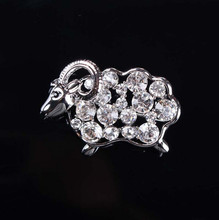 elegant sheep brooch,modern design brooches,crystal fashion brooches BRC-0082