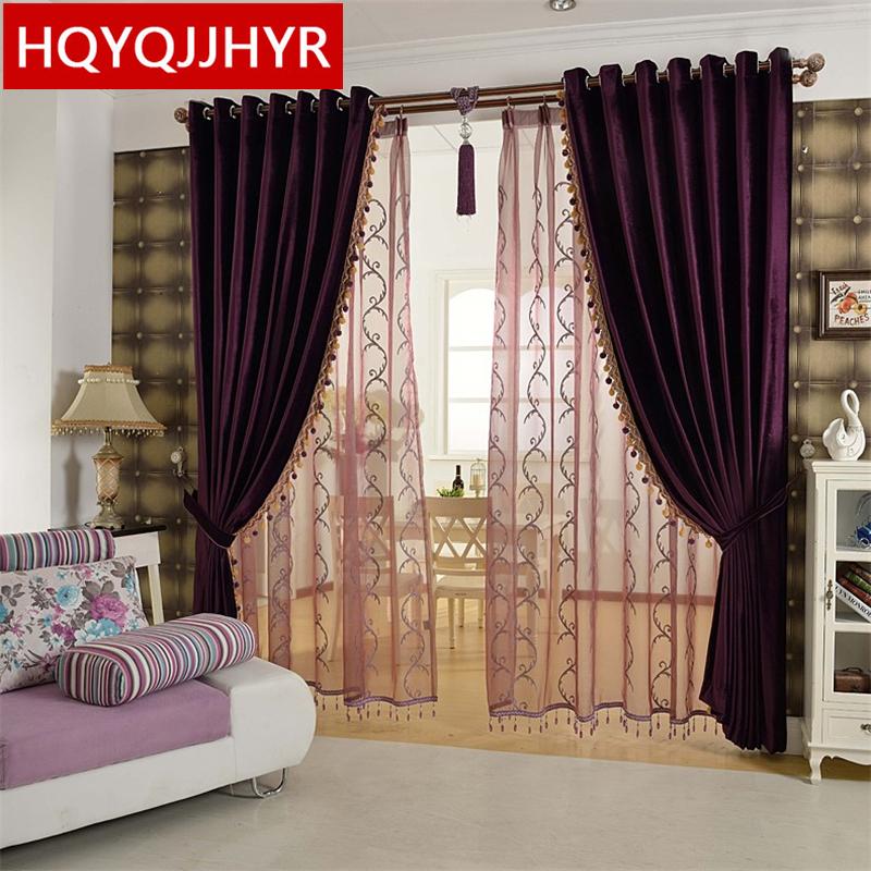 Popular Purple Bedroom Curtains-Buy Cheap Purple Bedroom